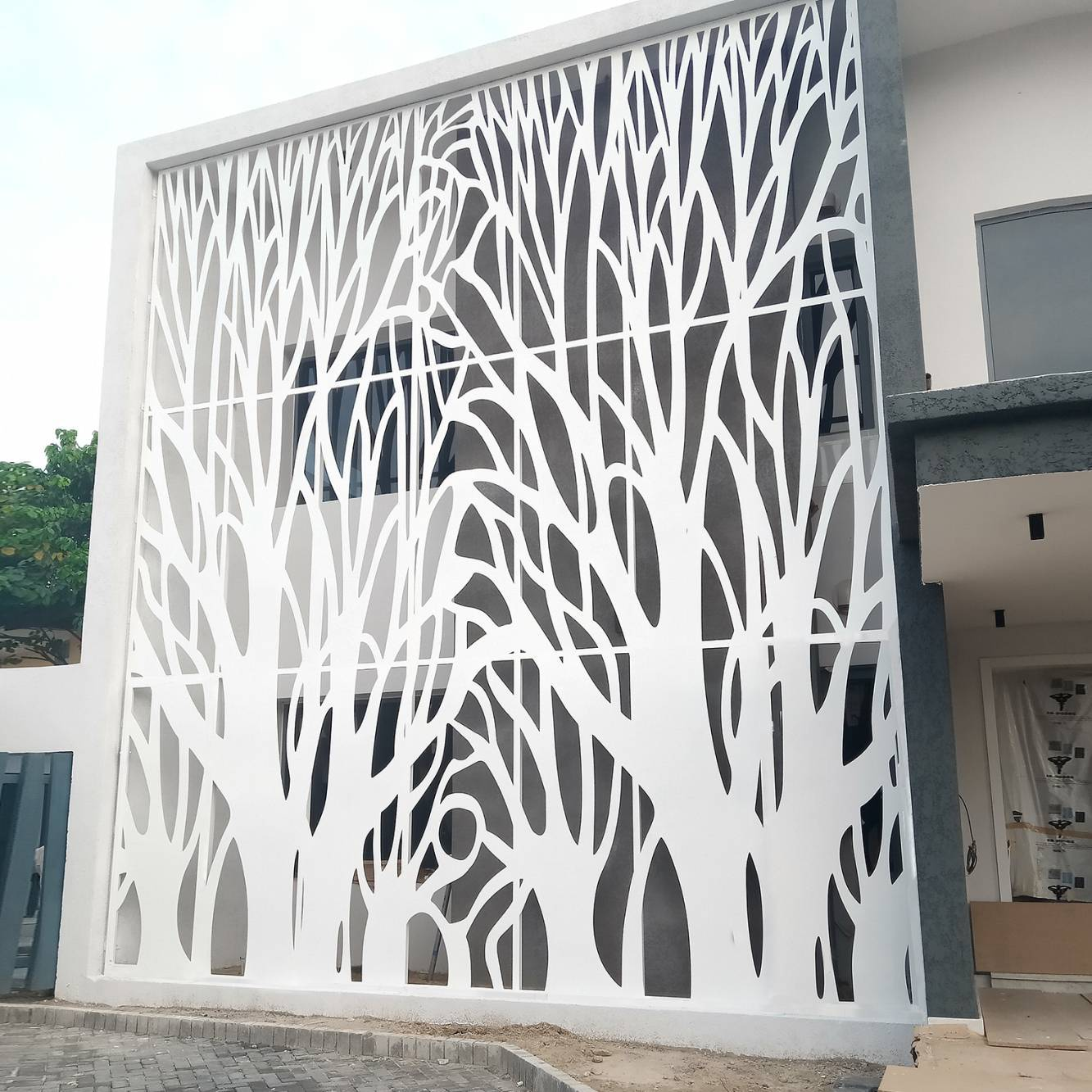 Laser Cut Architectural Facade | Laser Cut Exterior Screens