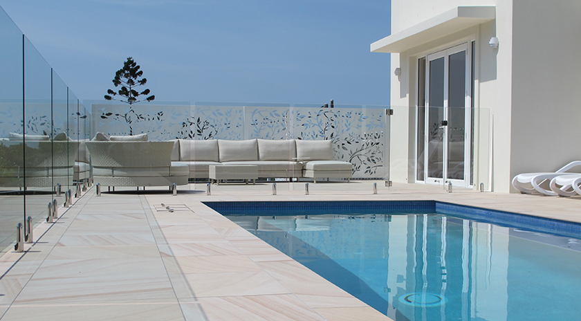 BuildDirect Africa Laser Cut Poolside Screen